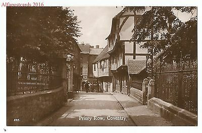 Warks Coventry Priory Row Real Photo Vintage Postcard 7.8