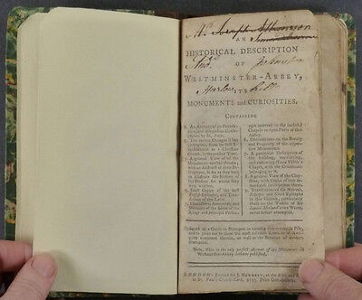 1753 Westminster Abbey History Curiosities Monuments Epitaphs and More