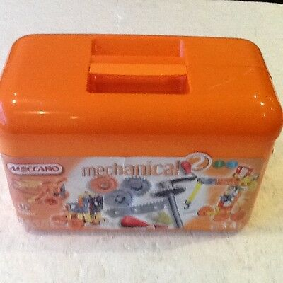 Meccano-Mechanical 2- 10 Models- 200 + Pieces-Age 4 Years +Wheels Etc-In Box-Vgc