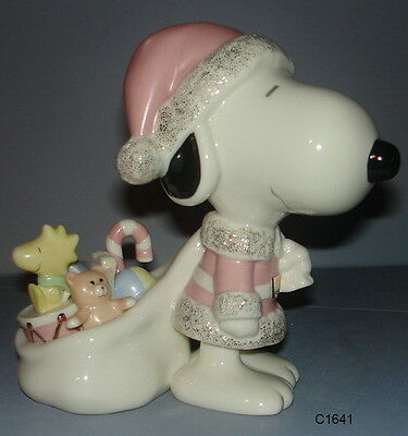 Lenox Peanuts SNOOPY CLAUS Figurine - New In Box