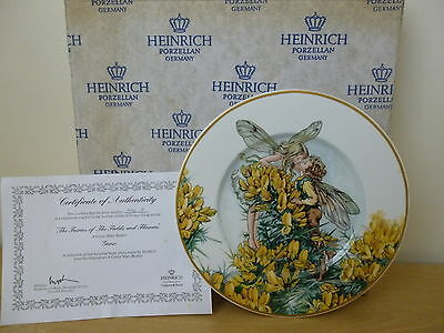 Heinrich Fairies of the Fields & Flowers Cicely Mary Barker Gorse Plate