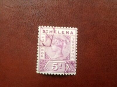 St Helena Qv 1897 Sg#51 Cv£65 Classic Good Used Stamp No Reserve