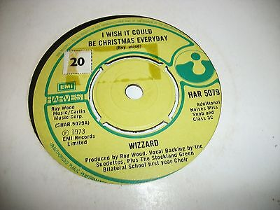"""WIZZARD- I WISH IT COULD BE CHRISTMAS EVERYDAY VINYL 7"""" 45RPM p"""