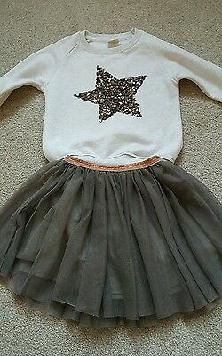 Zara girls skirt and top age 5-6
