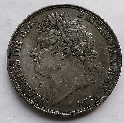 Crown George IV 1821 Secundo 27g .925 Sterling Silver