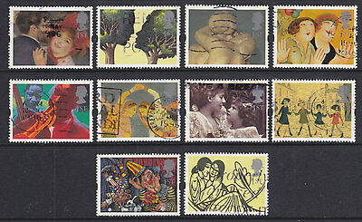 1995 Art Greetings Stamps Set Of 10 Sg1858/1867 Used