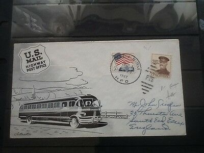 Usa Interesting 1937 Highway Post Office Pictorial Cover  No Reserve