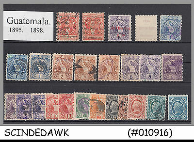 Mini Lot Of Guatemala Classic Stamps From 1895-1898 - 24V - Used