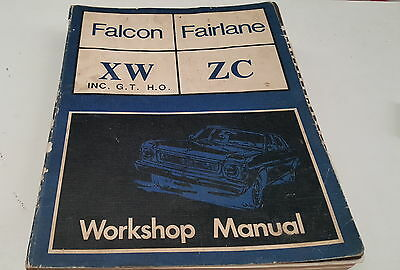FORD FALCON XW ZC Fairlane  Factory  Workshop Manual  GT HO Very RARE