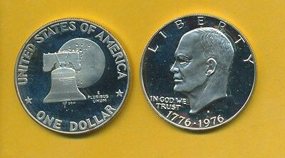 Eisenhower Proof Silver Dollar 1976-S Silver Special