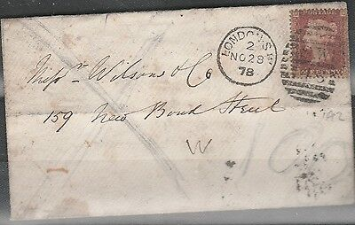 G.B. QV 1d RED COVER BACKSTAMPED