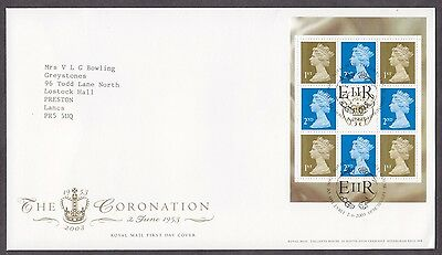 2003 Coronation Se-Tenant Booklet Pane On Fdc