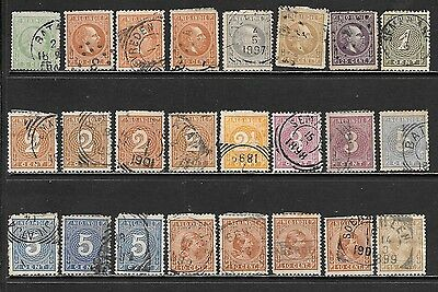 NETHERLANDS INDIES 1870-1912 Mint and Used Issues Selection (Nov 0122)