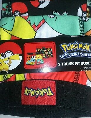 OFFICIAL BOYS POKEMON BOXER SHORTS UNDERWEAR (AGE 7 - 8 years)