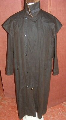 Barbour Backhouse. New Zealand made full length brown waxed riding coat-Size M