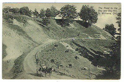 Road to Bay and Bay Hill, St. Williams, Ontario 1915 Post Card