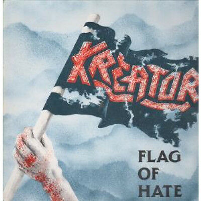 """KREATOR Flag Of Hate 12"""" VINYL 3 Track B/w Take Their Lives And Awakening Of T"""