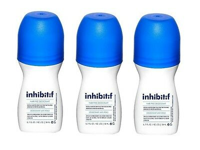 3 Pack New Inhibitif Hair Removal Deodorant Kinetic Energy Aroma 50ml