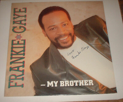 "signed 1990 FRANKIE GAYE 12"" MY BROTHER marvin gaye MOTORCITY MOTC 69 motown"