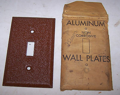 Vintage BROWN Single Gang Aluminum SWITCH COVER