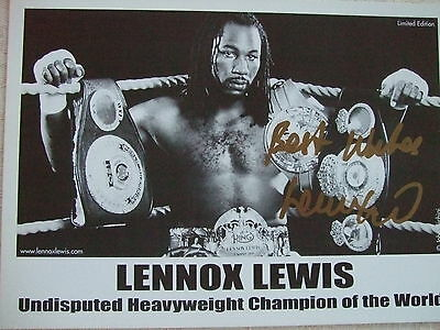 Boxing great Lennox Lewis signed 7x5 photo totally original