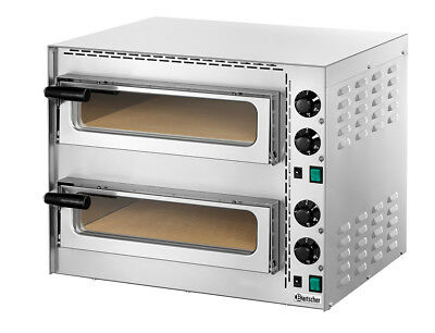 """Bartscher 203535 double electric oven for pizza """"Mini Plus 2"""", 3,4 kW IE"""