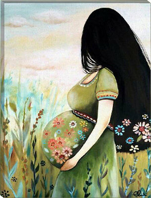 Framed Painting by Number kit Pretty Pregnant Lady Expectant Mother DIY HT7082