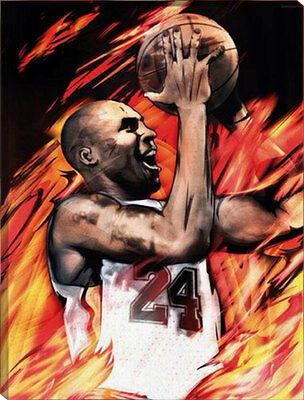Painting by Number kit Kobe Bryant Shooting The Ball Basketball Star DIY HT7087