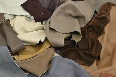 Cowhide Scrap leather 3-5 oz 1 pound remnants Mixed Color and Grain