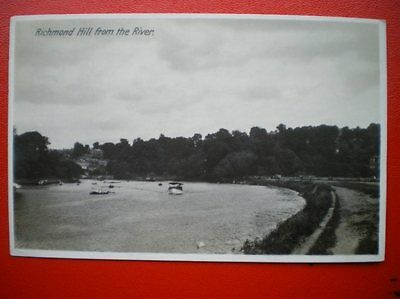 Postcard Rp Middlesex Richmond Hill From The River 1930's