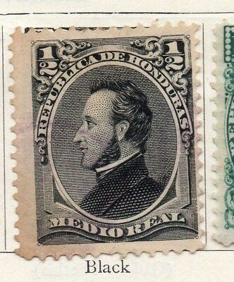 Honduras 1878 Early Issue Fine Mint Hinged 1/2r. 098857