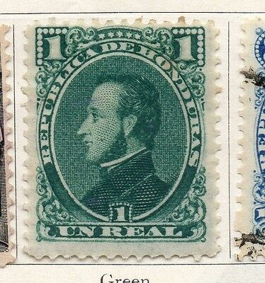 Honduras 1878 Early Issue Fine Mint Hinged 1r. 098858