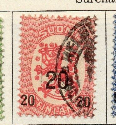 Finland 1918 Early Issue Fine Used 20M. Surcharged 099069