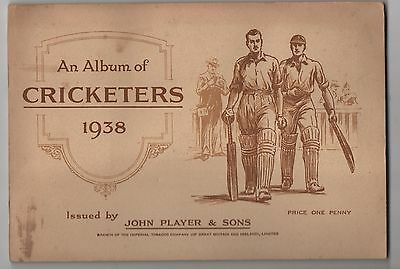 John Player & Sons. Cricketers. 1938. 50 Cards .  Album Complete.