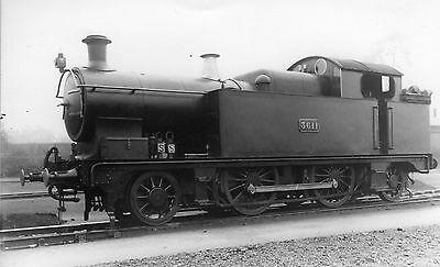 Photo GWR 2-4-2T No 3611 seen at unknown shed yard