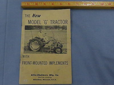 early Allis Chalmers Model G Tractor Dealer Sales Brochure RARE! catalog