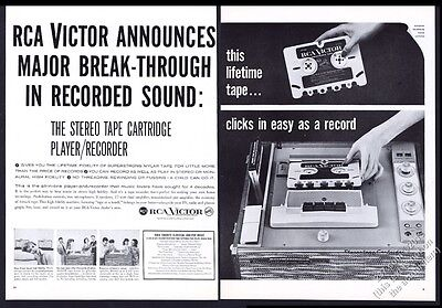 1959 RCA Victor stereo tape cartridge player recorder photo vintage print ad