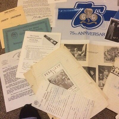 Large Lot Ephemera Girl Guide . Forest Hill Brownie Pack 1925.