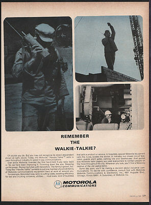 Motorola Communications JULY 1964 Walkie-Talkie Original Print Ad