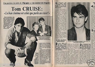Coupure de presse Clipping 1987 Tom Cruise  (2 pages)