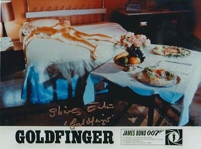 Shirley Eaton 007 James Bond Authentic Autograph Goldfinger Golden Girl Bed Shot