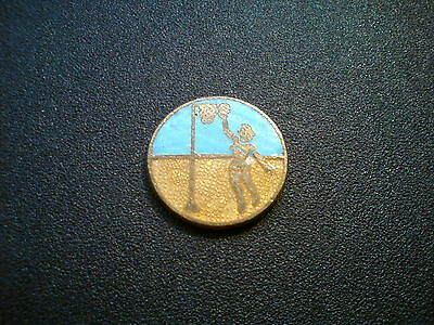 Vintage Emamel Basketball Pin / Badge / Token
