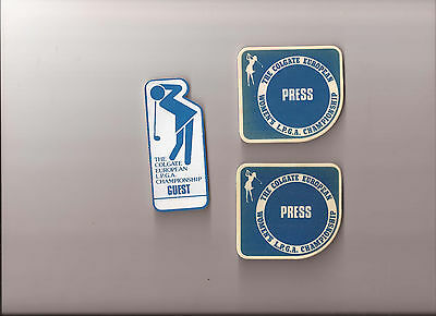 The Colgate European - Press and Guest Badges - 1970s - Ladies Golf
