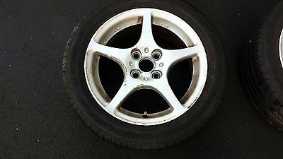 """x4 TOYOTA MR2 MK3 ROADSTER - 15"""" ALLOY WHEELS with good TYRES"""
