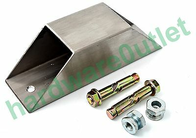 Stainless Steel 50x50 Mitred Security Anchor Fixing Bolts & Shear Nuts Included