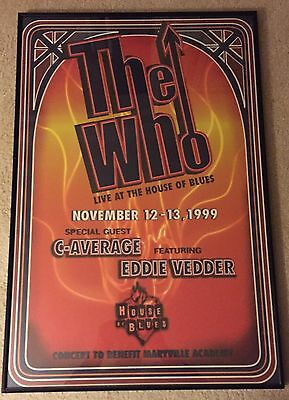House of Blues The Who original poster
