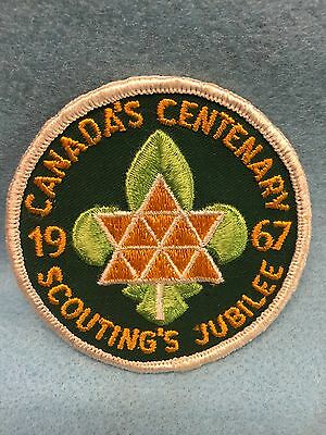 Boy Scouts-  1967 Canada's Centenary - Scouting's Jubilee patch