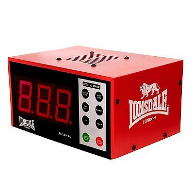 Lonsdale Electronic Programmable Gym Interval Timer Countdown Boxing Clock