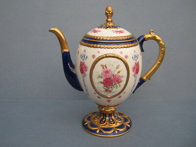 """Superb House Of Faberge """"Faberge Egg"""" Imperial Tea-Pot by Franklin Mint"""