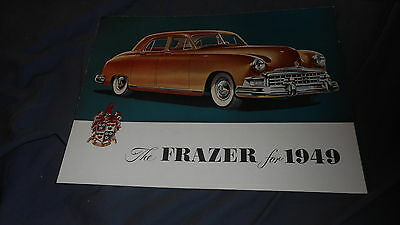 1949  1950 Frazer Manhattan and Sedan Full Line Original Brochure Prospekt
